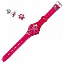 Juego Agatha Ruiz de la Prada reloj AGR208 pendientes plata [AB9354]