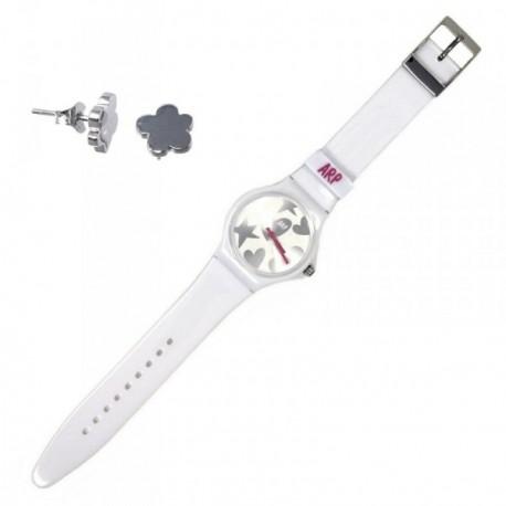 Juego Agatha Ruiz de la Prada reloj AGR216P pendientes plata [AB9355]