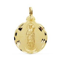 Medalla oro 18k Virgen Almudena 20mm. [AB0777GR]