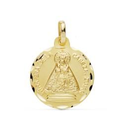 Medalla oro 18k Virgen Cabeza 18mm. [AB0780GR]
