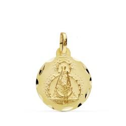Medalla oro 18k Virgen Cabeza 16mm. [AB0779GR]