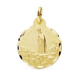 Medalla oro 18k Virgen Fátima 22mm. [AB0775GR]