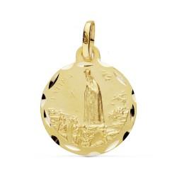 Medalla oro 18k Virgen Fátima 20mm. [AB0774GR]