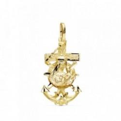 Colgante oro 9k Cruz Marinera 27mm. Virgen del Carmen [AB9420]