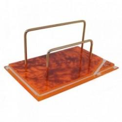 Portasobres metacrilato naranja detalles dorados [AB9219]
