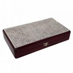 Joyero plata Ley 925m madera filigrana [AB9222]
