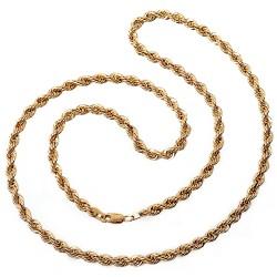 Cordón cadena oro 18k salomónico 50cm. normal 4mm. [AA1593]