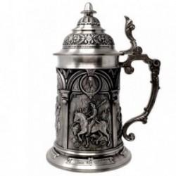 Jarra cerveza WMF acero inoxidable motivos medievales [AB9454]