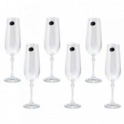 Copas 6 uds. champagne cristal bohemia Florence 180ml. [AB9463]