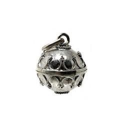 Llamador plata ley 925m de ángeles  diametro 14mm. cerrado [AB9516]