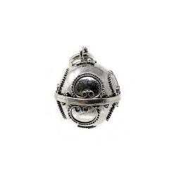 Llamador plata ley 925m de ángeles  diametro 14mm. cerrado [AB9515]