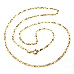 Cadena oro 9k 50cm. diamantada espesor 1.5mm. cierre reasa unisex unisex
