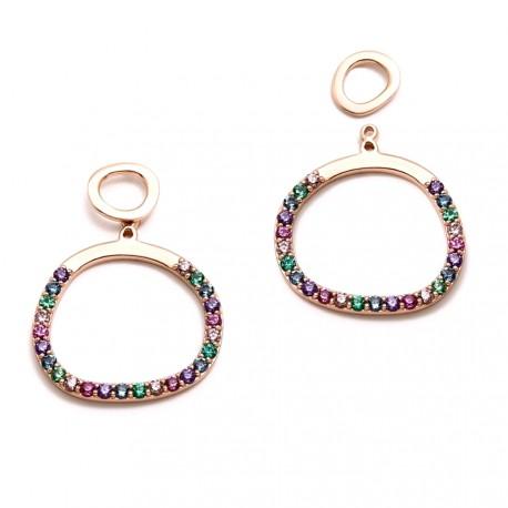 Pendientes plata Agatha Ruiz de la Prada 19mm. rosa círculo [AB5674]