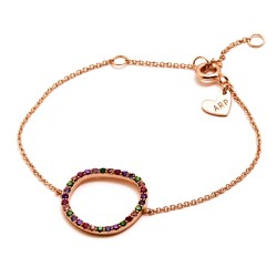 Pulsera plata Agatha Ruiz de la Prada 13cm. rosada círculo [AB5681]