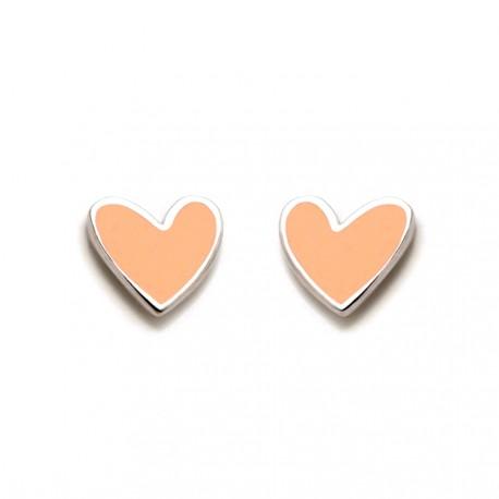Pendientes plata Agatha Ruiz de la Prada 6mm. corazón [AB5700]