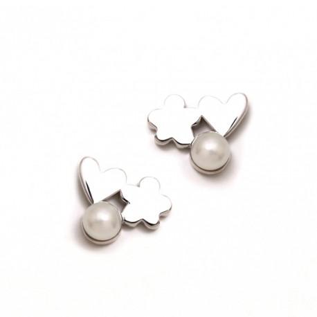 Pendientes plata Agatha Ruiz de la Prada 11mm. trío perla [AB5694]