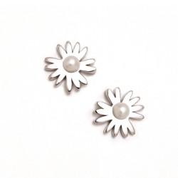 Pendientes plata Agatha Ruiz de la Prada 10mm. margarita [AB5696]