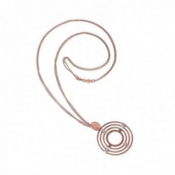 Colgante BOCCADAMO STARRY ROSE bronce chapado oro rosa [AB9788]