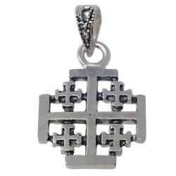 Colgante Plata Ley 925m 22mm. Cruz Santo Sepulcro Jerusalén [AC0024]