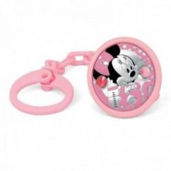 Pinza chupete plata Ley 925m bebé Disney bilaminado Minnie [AB9998]