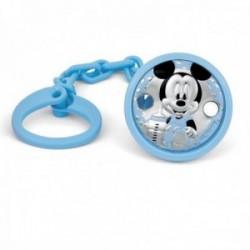 Pinza chupete plata Ley 925m bebé Disney bilaminado Mickey [AB9999]