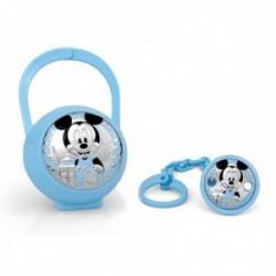 Juego pinza porta chupete plata Ley 925m Disney bebé Mickey [AC0003]