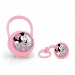 Juego pinza porta chupete plata Ley 925m Disney bebé Minnie [AC0004]