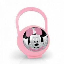 Porta chupete plata Ley 925m bilaminado Disney bebé Minnie bebé