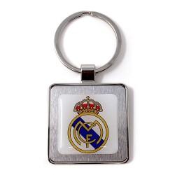 Llavero metálico escudo Real Madrid C.F. cuadrado [AC0087GR]