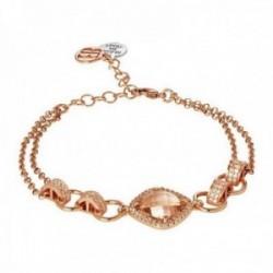 Pulsera BOCCADAMO SHARADA ROSE bronce chapado oro rosa [AC0084]