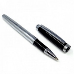 Roller rayas veticales labradas plateado negro [AC0083]