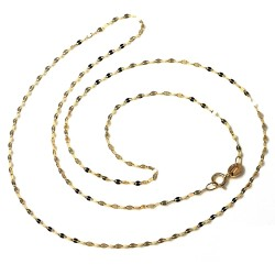 Cadena oro 18k barbada combinada diamantada 45cm. [AA2686]