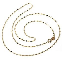 Cadena oro 18k  barbada combinada diamantada 50cm. [AA2687]