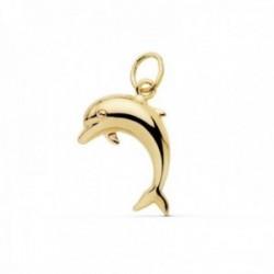 Colgante oro 18k motivo delfín 17mm. liso [AC0110]