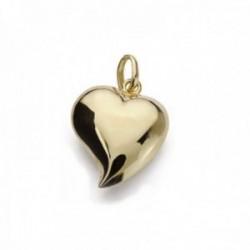 Colgante oro 18k motivo corazón 15mm. liso [AC0198]