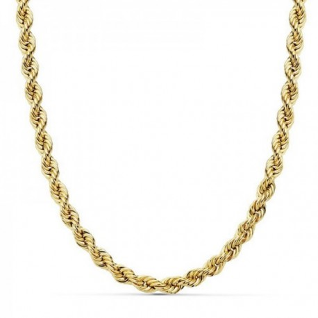 Cordón oro 18k salomónico 50cm. ligero 5.5mm. cadena [AC0201]