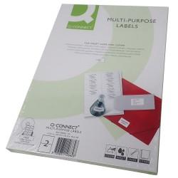 Etiquetas adhesivas 210x148mm. 100 uds. 2 etiquetas/hoja A4 [AC0212]