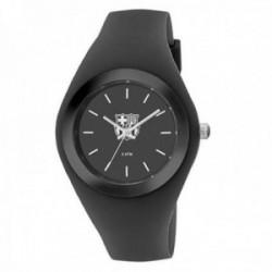 Reloj F.C. Barcelona Radiant BA07701 unisex negro silicona detalles plateados