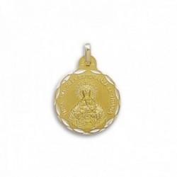 Medalla oro 18k Ntra. Sra. de la Esperanza de Triana 21mm. [AC0227GR]