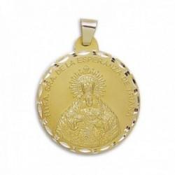 Medalla oro 18k Ntra. Sra. de la Esperanza de Triana 43mm. [AC0228GR]