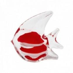 Figura pez cristal interior rojo blanco aletas [AB9484]