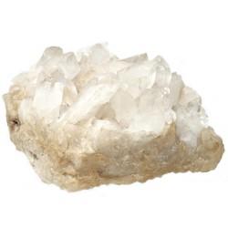 Piedra mineral cuarzo beige diagonal 20cm. [AB9470]