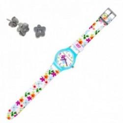 Juego Agatha Ruiz de la Prada reloj AGR202 pendientes plata [AB9801]