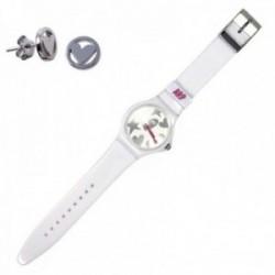 Juego Agatha Ruiz de la Prada reloj AGR216P pendientes plata [AC0760]