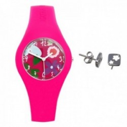 Juego Agatha Ruiz de la Prada reloj AGR221 pendientes plata [AB9804]