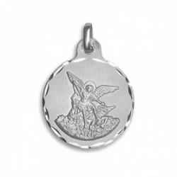 Medalla plata Ley 925m. San Miguel 21mm. cerco tallado [AC0766GR]