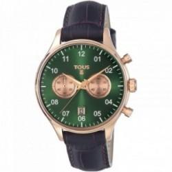 Reloj Tous mujer 1920 verde correa piel marrón 600350445 [AC0863]
