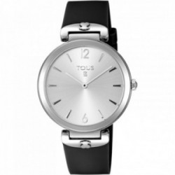 Reloj Tous mujer S-Mesh plateado correa negra oso 600350446 [AC0864]