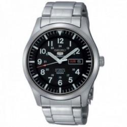 Reloj Seiko hombre 5 Sports automático plateado SNZG13K1