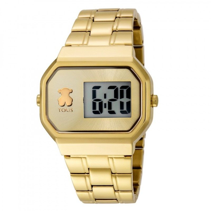 Reloj Tous mujer D Bear Digital dorado oso 600350300 [AC0862]
